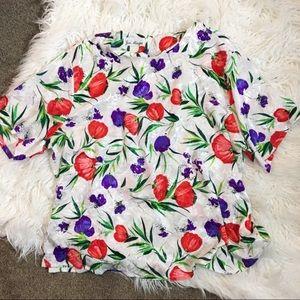 Vintage women's flower shirt